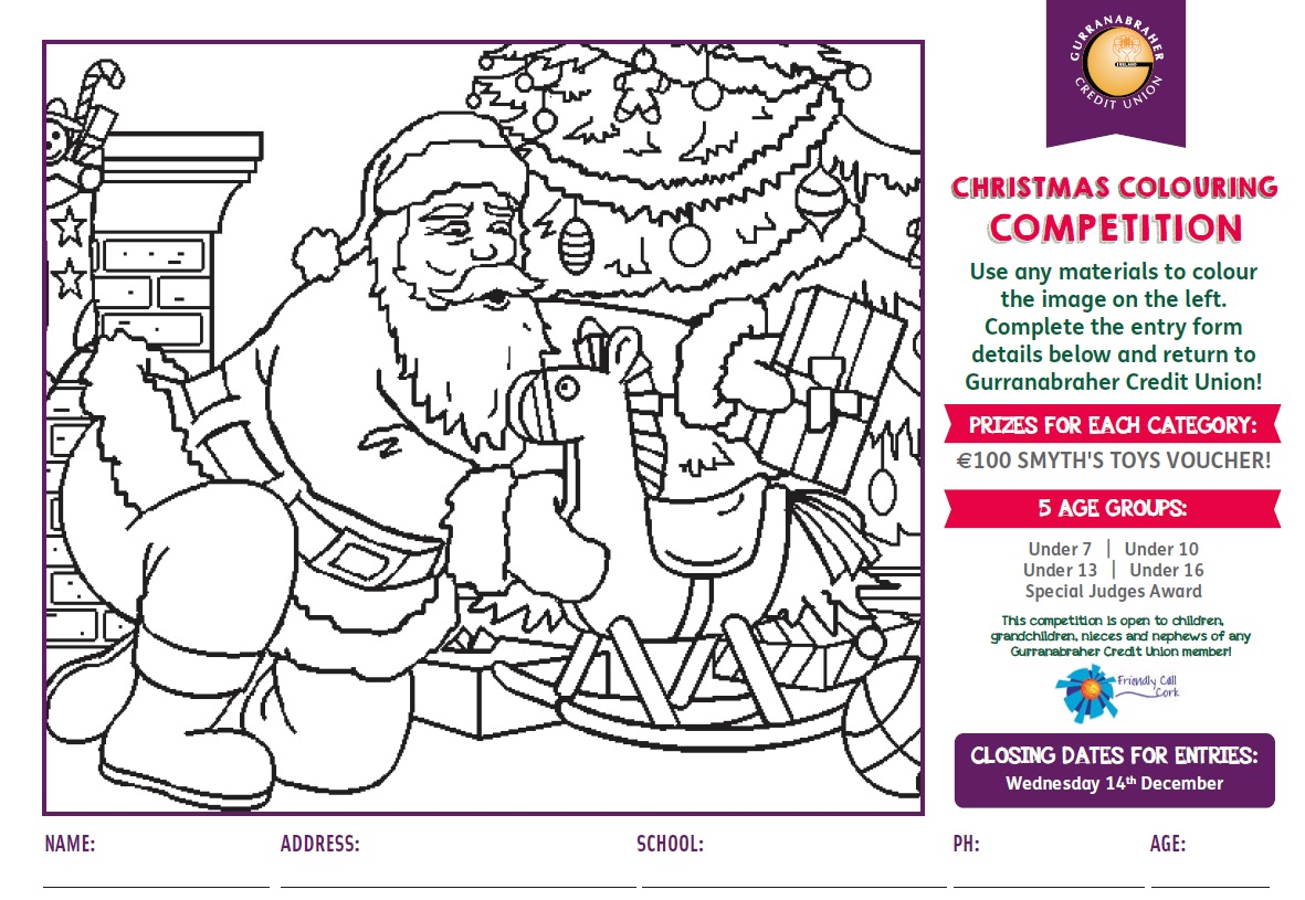 Gurranabraher Credit Union Childrens Colouring Competition